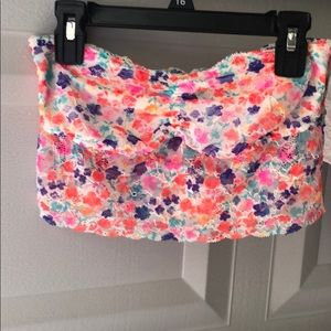 Bright multicolored PINK bandeau